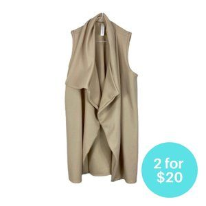 2 for $20 - Seven Sisters Sleeveless Jacket Waterfall Beige Size Small Polyblend